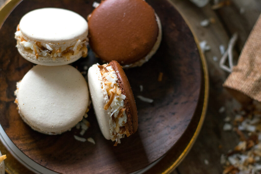 Coconut Rum French Macarons