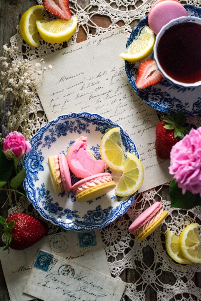 Strawberry Lemonade French Macarons