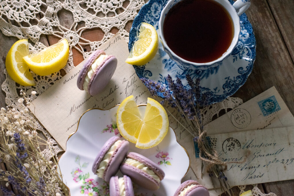 Lemon Lavender French Macarons