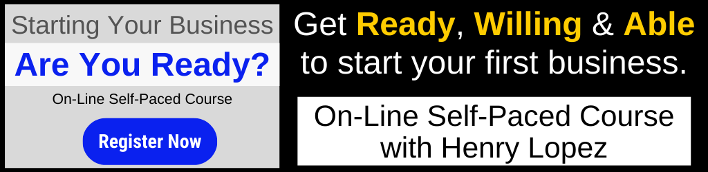 Are Your Ready? to start your first small business.