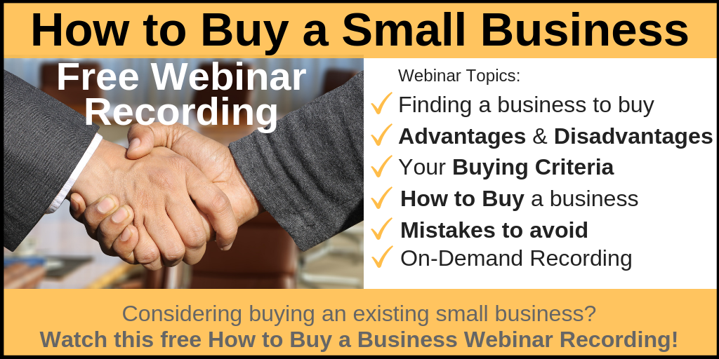 How to Buy a Small Business