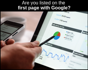 Are you listed on the first page with Google?