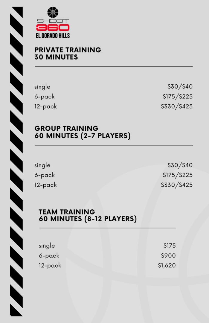 training prices grey website
