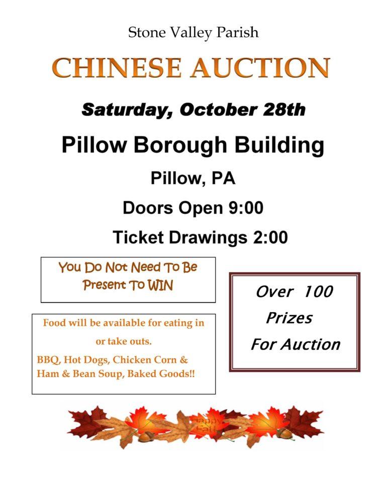 Parish Chinese Auction – October 28