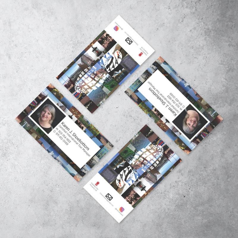 Karen Shoebottom Tours Business Card