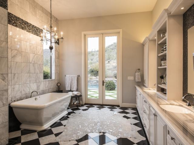 Retro Glam bathroom remodel