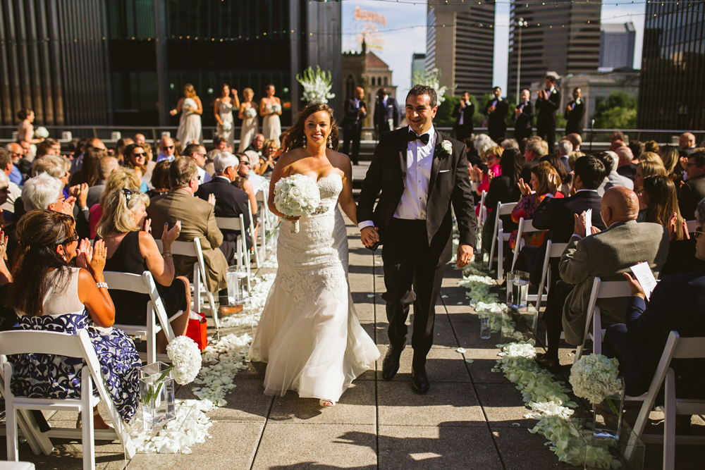 Renaissance rooftop wedding ceremony