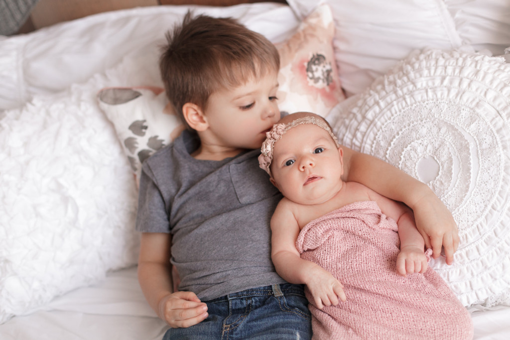 Baby Lainey and Brother