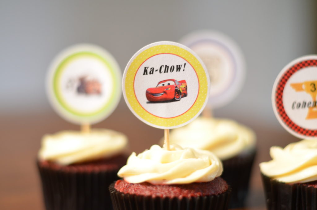 cars themed cupcake toppers