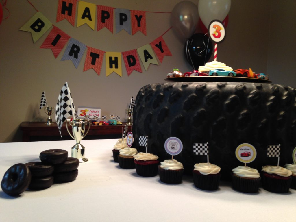 Cars themed desserts