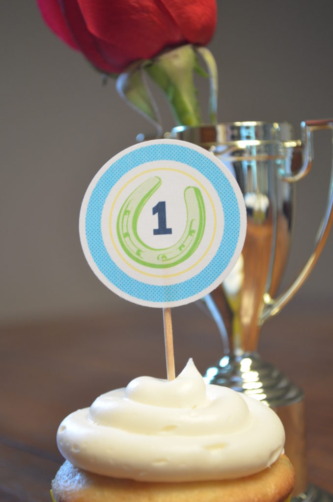 kentucky derby cupcake topper