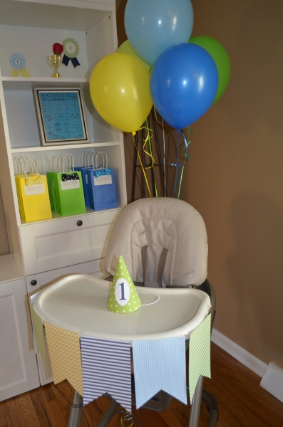 Highchair-first birthday decoration
