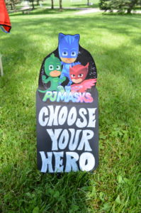 Choose your hero sign