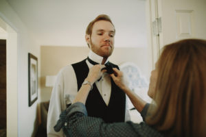 Bow tie, getting ready