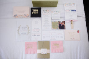 Wedding Stationary / Wedding Paper Goods / Blush, Sage and Gold Wedding