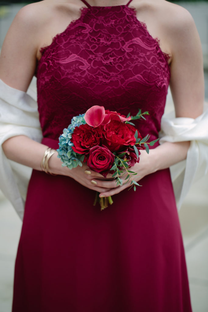 Bridesmaid, Navy and Burgundy Wedding