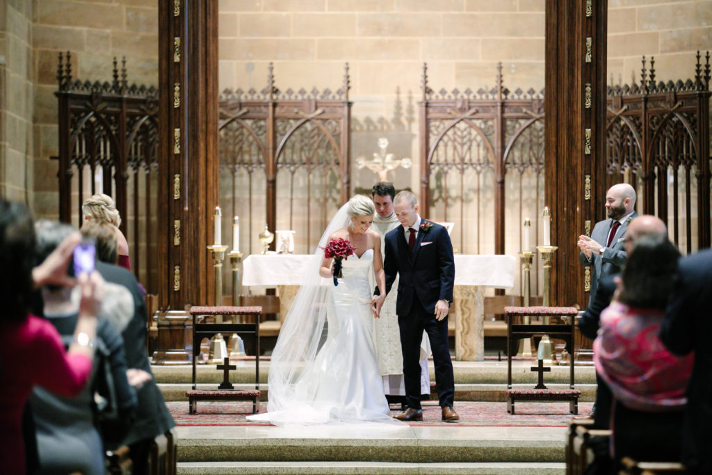 Mr. and Mrs., St. Joseph Cathedral Wedding