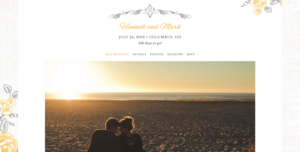 The Knot Wedding Website Preview