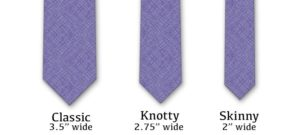 tie length and width chart