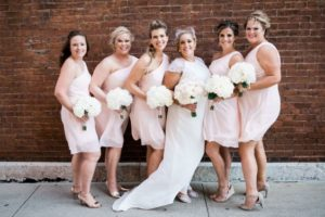 Bridal party blush dresses