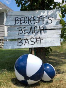 Beach ball sign