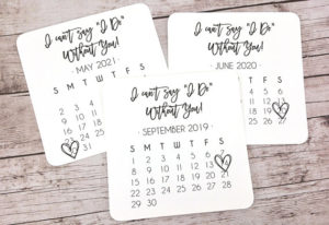 can't say I DO without you calendar card