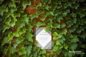 Invitation in greenery