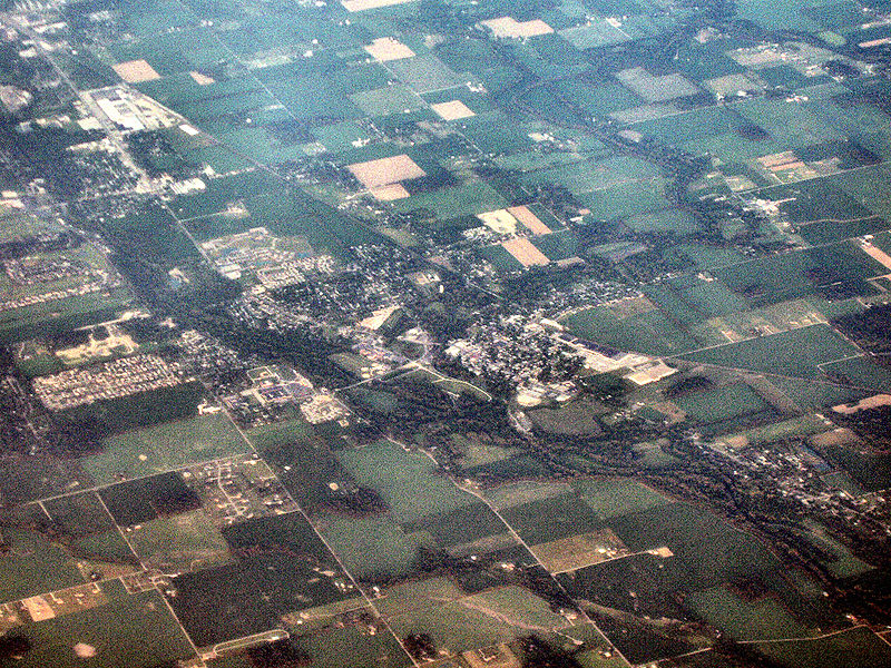 An aerial view of Yorktown