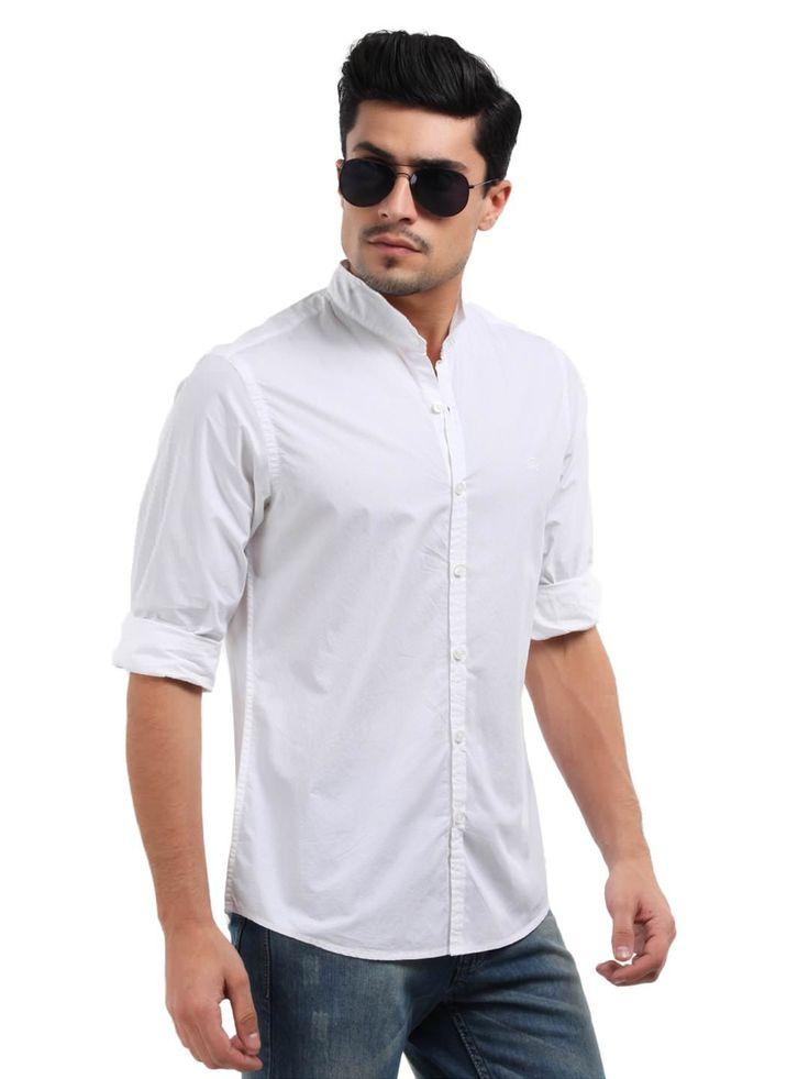 White-button-down-shirt