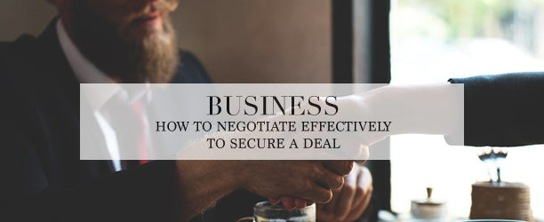 negotiate a business deal