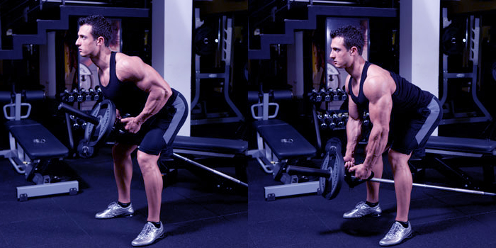 v grip bent over t bar rows