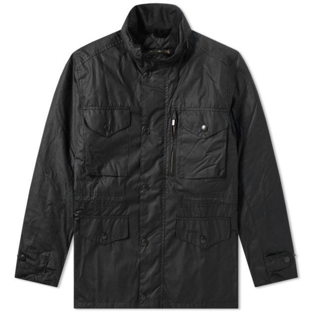 Barbour Sapper Wax Jacket Black