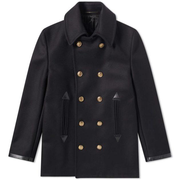Givenchy Wool Pea Coat Black