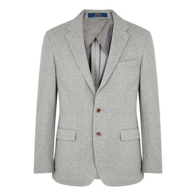 Polo Ralph Lauren Light Grey Stretch-cotton Blazer