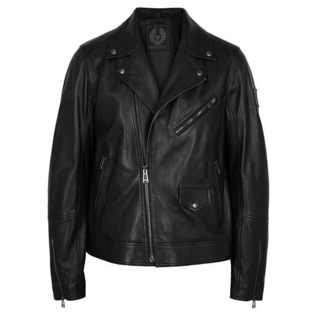 Belstaff Fenway Black Leather Biker Jacket