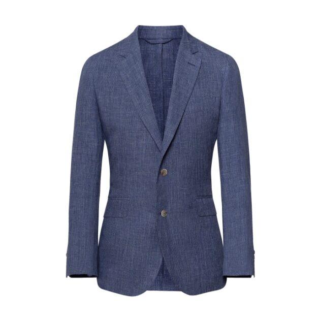 Hackett Blue Check Linen Blazer