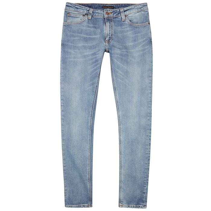 Nudie Jeans Skinny Lin Light Blue Skinny Jeans
