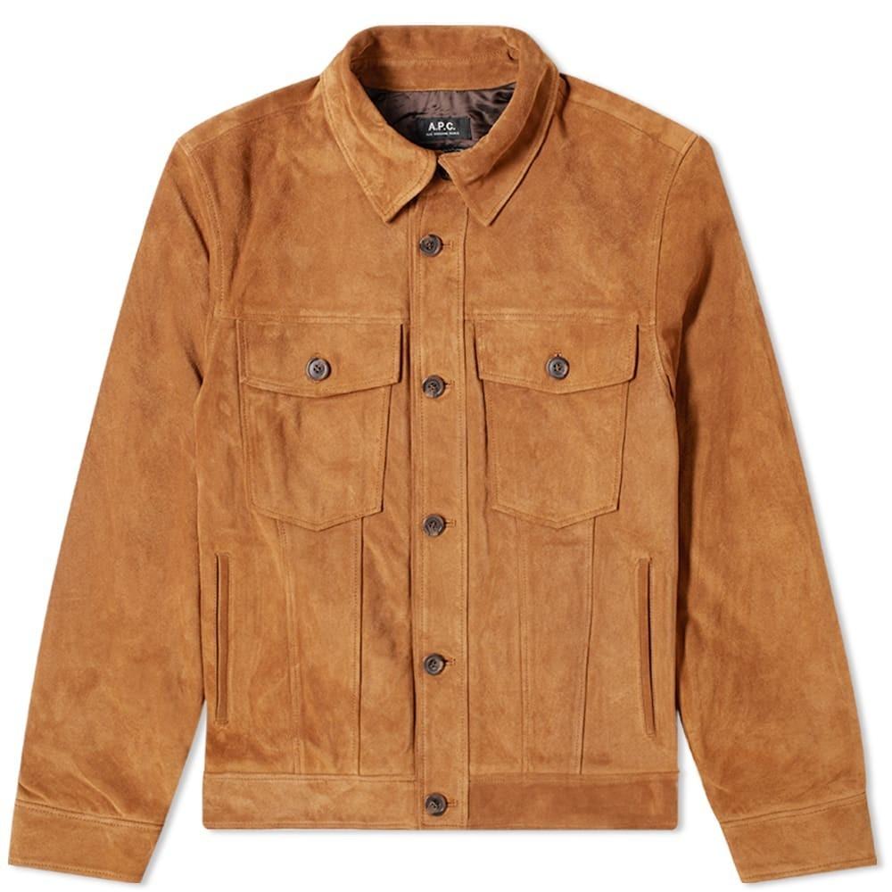 app suede trucker jacket