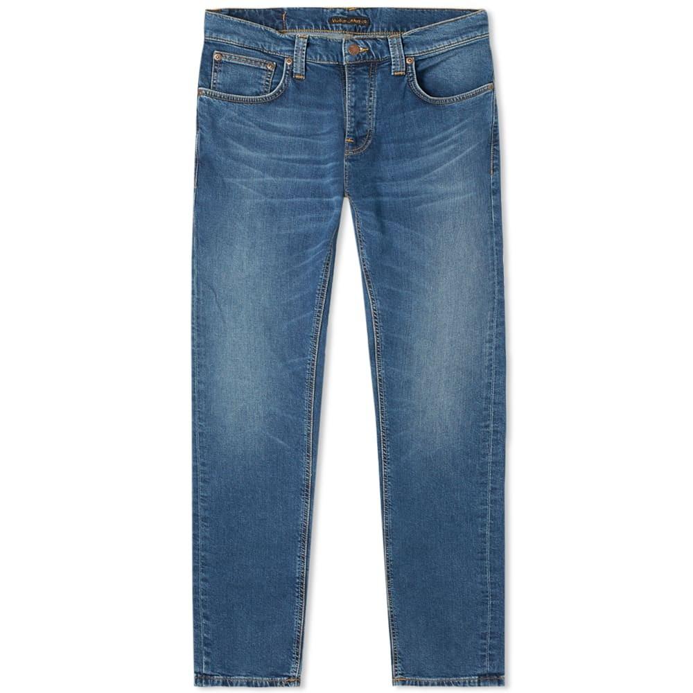 nudie indigo blue denim jeans