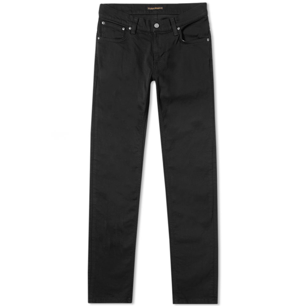 nudie black denim jeans