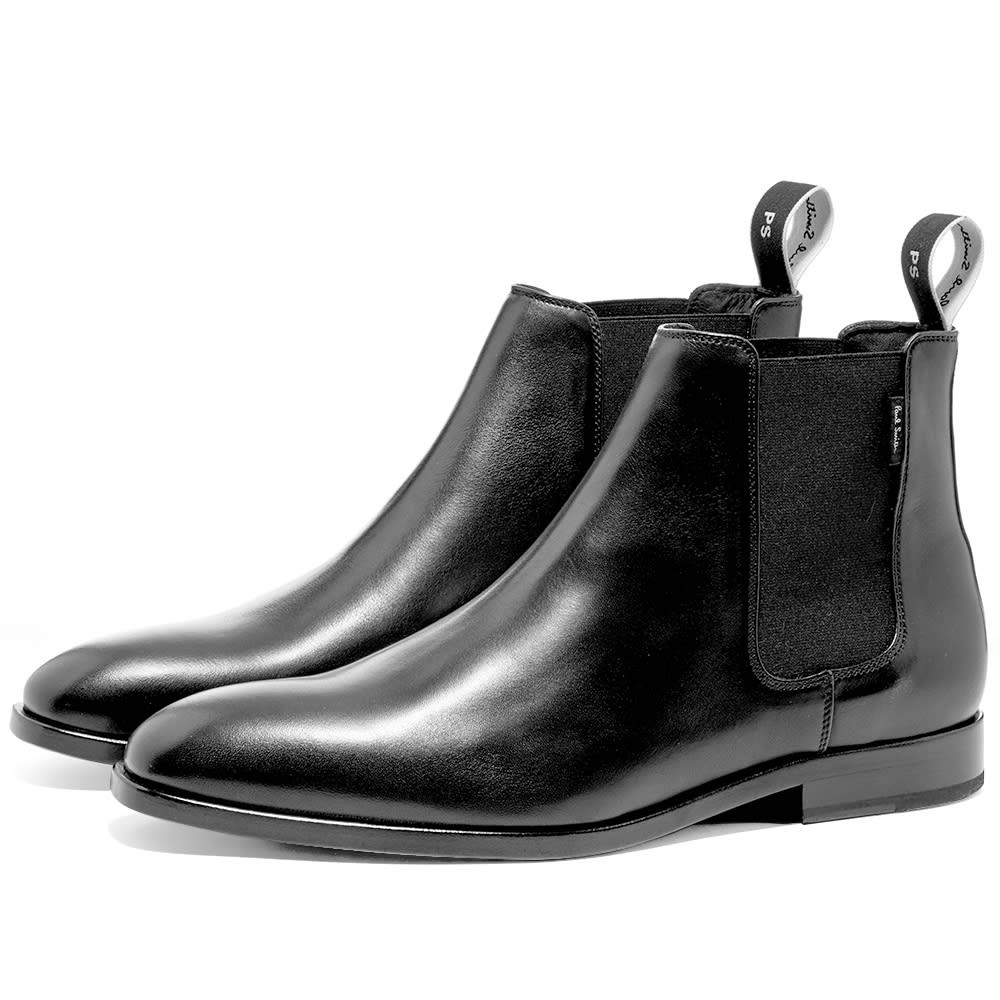 paul smith black leather chelsea boots