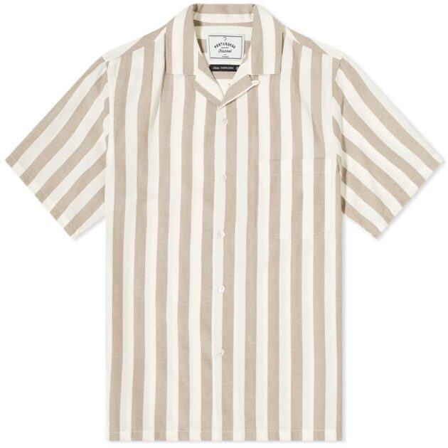 Portugeuse Flannel Bayonne Vacation Shirt – vertical stripe shirts