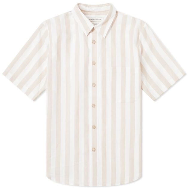 A Kind of Guise Short Sleeve Banepa Shirt – vertical stripe shirts