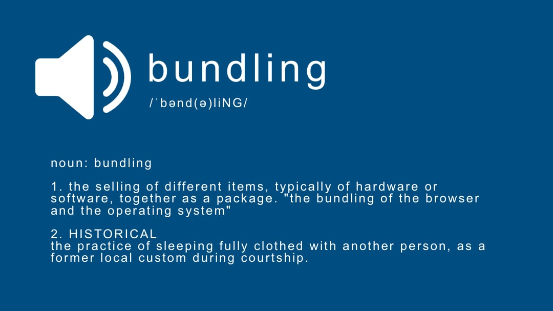 My Thoughts on Bundling