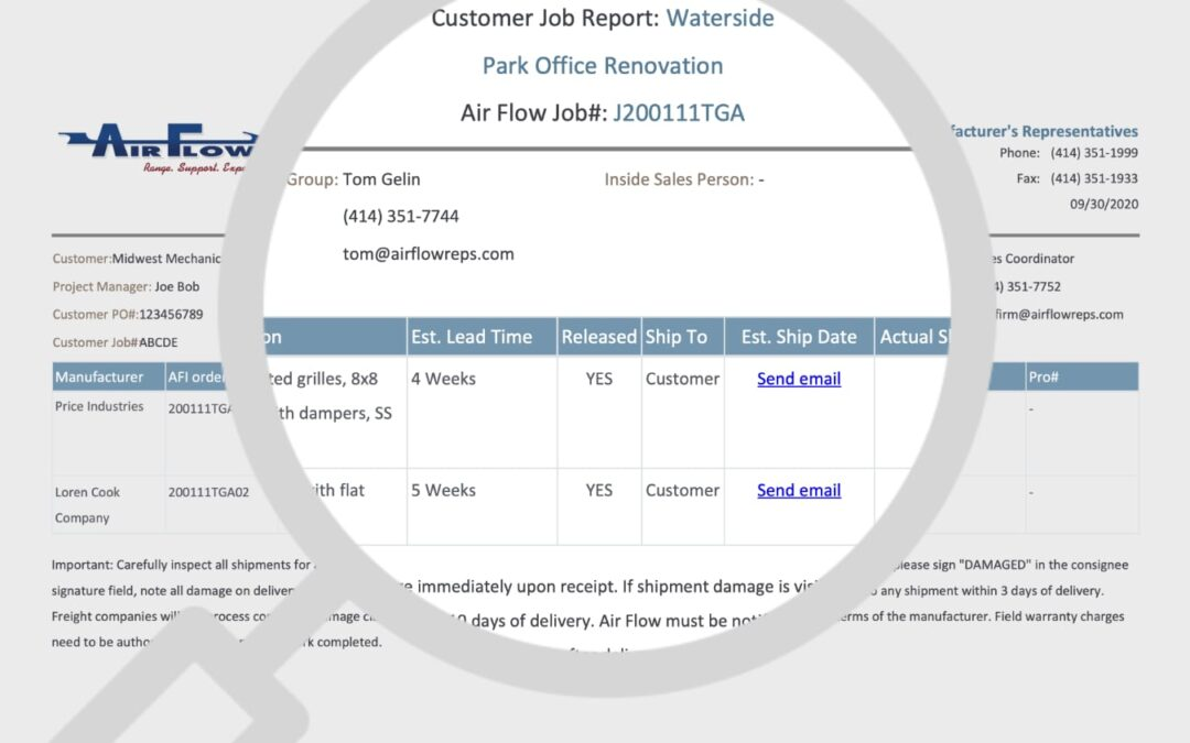 We need your help to improve Air Flow's shipping reports!