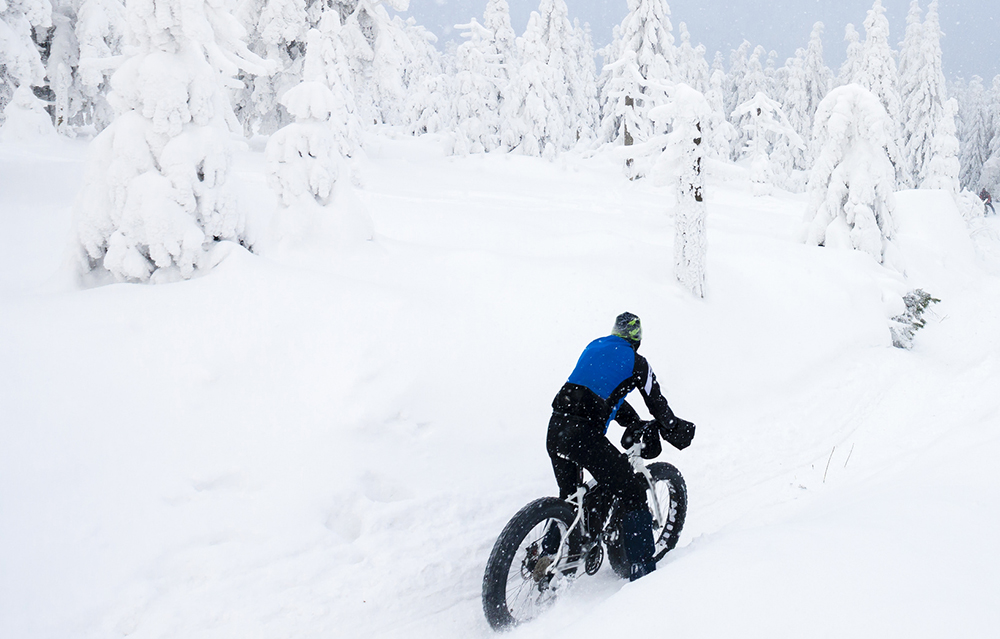 Winter Cycling Orlicke Mountian
