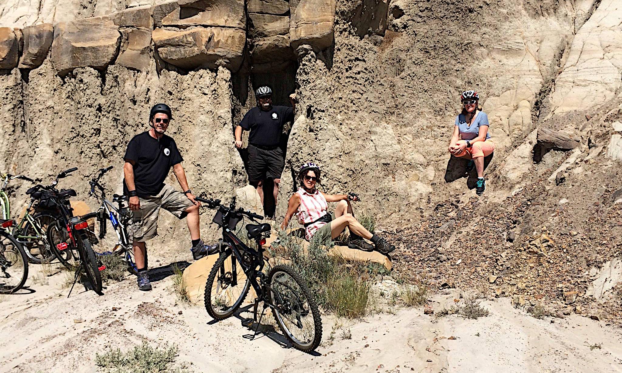 Group Riding, Touring Drumheller, Alberta