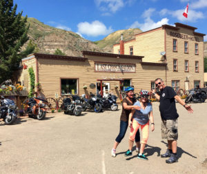 Last Chance Saloon, bicycle Touring in Drumheller, Alberta