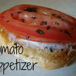Mini Open Face Tomato Appetizers