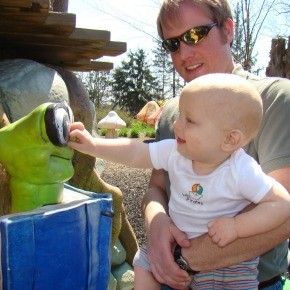Highfield Discovery Garden: Sam & The Caterpillar (then and now)